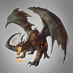 Magma Dragon, Ancient by JasonEngle.deviantart.com on @deviantART