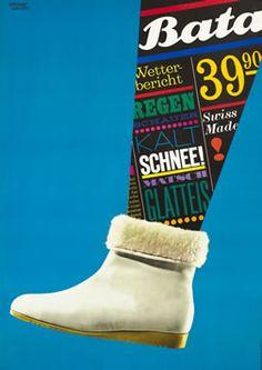 Herbert Leupin poster: Bata (snow boot)