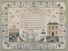 A good second quarter 19th Century needlework sampler, 'Louisa Applegate's Work/Sep 10. 1835'.