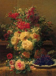 Jean-baptiste Robie...colors , romantic flowers..