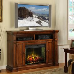 Legends Berkshire Fireplace Media center - Old World Umber - ZG-B1900