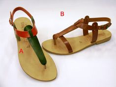 Anytime Leather Sandals by HQSandals on Etsy