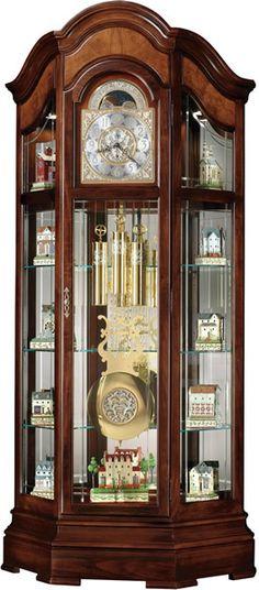 0-024523>Majestic II Floor Clock Windsor Cherry