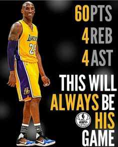 016928f5d51 Los Angeles Lakers · This was Kobe's Last Game..this is like Wayne Gretzky  scoring 5 goals in