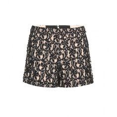 Alice + Olivia Embellished Shorts (13,165 THB) ❤ liked on Polyvore