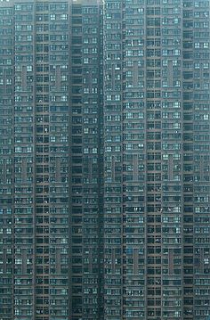 "Hong Kong high-rise residential building by World Press Photo Award-winning German photographer Michael Wolf, from his series ""Architecture of Density"" Futuristic Architecture, Amazing Architecture, Architecture Design, Building Architecture, Hong Kong Architecture, Hong Kong Building, Michael Wolf, Foto Picture, Rare Historical Photos"