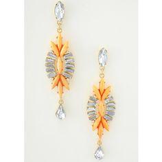 Boucles d'oreilles pendantes.  www.milena-moda.com