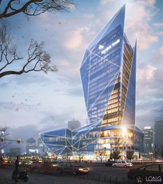POLYGON Office Tower is part of Office building architecture - Location Vietnam Personal student project Nov 2015 Architecture Design, Office Building Architecture, Architecture Visualization, Modern Architecture House, Facade Design, Concept Architecture, Futuristic Architecture, Amazing Architecture, Building Design