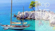 To top 15 των ελληνικών καλοκαιρινών προορισμών - προσφορές από 18 ευρώ Top 15, Greece Travel, Far Away, Sailing Ships, Places To Go, Boat, Island, Water, Holiday
