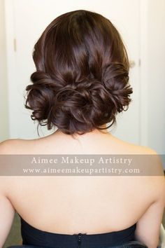 Loose Asian updo by Aimee Lam