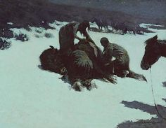 The Hungry Moon by Frederic Remington