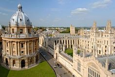 The Bodleian Library's Radcliffe Camera has become an icon of the University of Oxford campus.