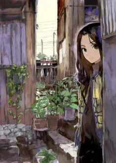 secret in the garden - illustrations Anime Oc, Manga Anime, Manga Girl, Anime Art Girl, Kawaii Anime, Anime Girls, Beautiful Anime Girl, I Love Anime, Manga Illustration