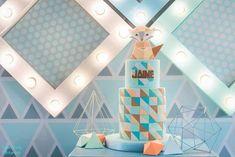 Jaime's Geometric Fox Themed Party – Cake Geometric Fox, Party Themes, Party Ideas, Party Cakes, Holiday Decor, Birthday, Shower Cakes, Birthdays, Ideas Party