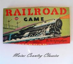 Vintage RARE 1940 Railroad Game Milton Bradley No 4661 Locomotive Train Graphic | eBay