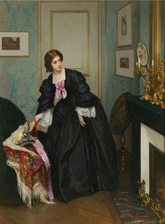 Gustave Léonard de Jonghe 'Look at the time'