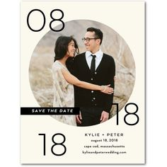 Circled Affection - Save the Date Postcards - Jenny Romanski - Pearl - White : Front