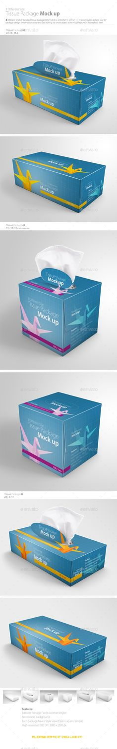 Tissue Package Mock up — Photoshop PSD #hi resolution #cosmetics • Available here → https://graphicriver.net/item/tissue-package-mock-up/11393009?ref=pxcr