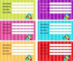 Descarga e Imprime Gratis Etiquetas para Cuadernos