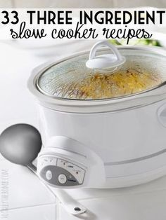 33 three ingredient slow cooker recipes via Totally The Bomb #slowcooker #3ingredients #crockpot
