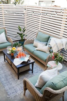 Budget patio makeover - tell love and partytell love and party inexpensive patio Decor, Furniture, Outdoor Decor, Home, Patio Design, Outdoor Patio Decor, Front Patio, Apartment Patio, Enclosed Patio