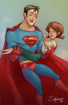 Superman and Lois Lane, by Sarah Mensinga