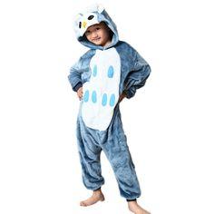 2bd0444e26 pajamas for kids owl Flange animal onesie kids christmas pajamas cute  Winter hooded children s sleepwear onesies