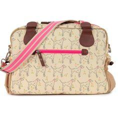 Pink Lining Not So Plain Sam Dalmatian Print Changing Bag, Beige Baby Number 3, Changing Bag, Dalmatian, Online Bags, Shoulder Strap, Beige, Pink, Stuff To Buy, Diaper Bags