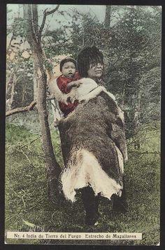 CHILE ESTRECHO MAGALLANES INDIA DE LA TIERRA DEL FUEGO South America, Art Drawings, Exotic, Moose Art, Photographs, Culture, Kids, Animals, Indigenous Art