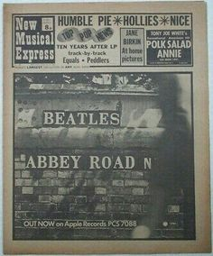 Apple Records, Humble Pie, Music Paper, Paper Cover, The Beatles, Pop, Popular, Pop Music, Beatles
