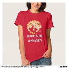 """Beauty Sleep in Progress"" Funny Cat Quote"