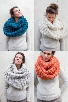 chunky scarves - would love to have one of these :)