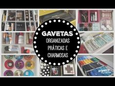 8 GAVETAS ORGANIZADAS, PRÁTICAS E CHARMOSAS   Organize sem Frescuras! - YouTube
