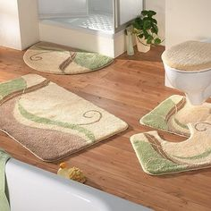 Luxury Bath Rug ~ http://modtopiastudio.com/choosing-the-tropical-bath-rugs-to-decorate-the-bathroom/