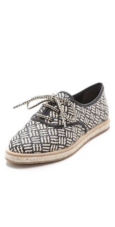 Can't wait for these babies to arrive...and spring!!! Loeffler Randall Odile Raffia Tennis Shoes