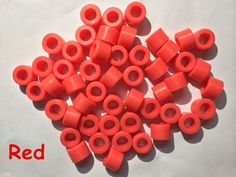 200 Pcs Red Color Small Type Dental Silicone Instrument Color Code Rings  #UnbrandedGeneric