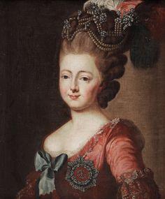 "ALEXANDER ROSLIN AFTER, ""EMPRESS MARIA FEODOROVNA OF RUSSIA"" (1759-1828)."