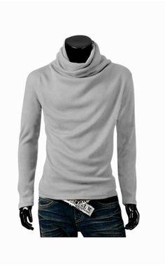 Man Slim Fit Light Gray Sweater