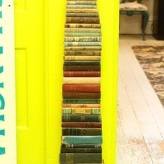 Are Books Obsolete? Thoughts on the Printed Word :: Apartment Therapy (basically, I could have written this because I feel exactly the same.and why I can't bring myself to use a Kindle. Apartment Therapy, Apartment Ideas, Apartment Design, Tall Cabinet Storage, Locker Storage, Staircase Landing, Ideas Prácticas, Room Ideas, Lineup