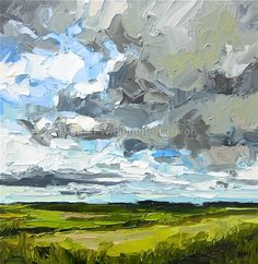 Passing Storm by H.W Dixon (impasto landscape painting, palette knife)                                                                                                                                                                                 More                                                                                                                                                                                 More