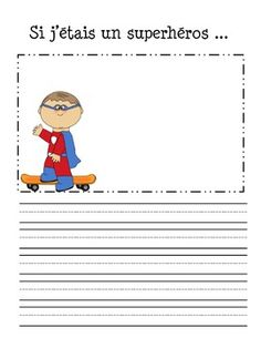 75 feuilles en tout pour travailler l'criture crative.75 sheets in total to help your students practice their writing in French.Perfect for French, French Immersion and Core French!Ce document inclut....-Une affiche d'criture pour ta classe - Classroom writing poster-25 feuilles - propos de moi et/ou misc-19 feuilles - Si j'tais...-14 feuilles - Saisons et ftes-36 cartes d'criture - 36 writing prompt cards -Feuilles et cartes vides - Blank writing papers and cardsThanks to Creative Clips…