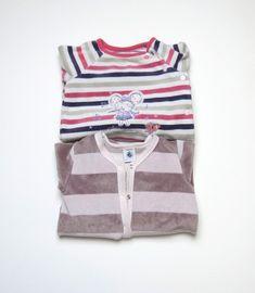 557c16cfb5a7a Lot 2 pyjamas velours Petit Bateau   Sergent Major fille 6 mois
