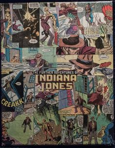 Indiana Jones 11x14 Comic Collage- perfect for all aspiring archaeologists
