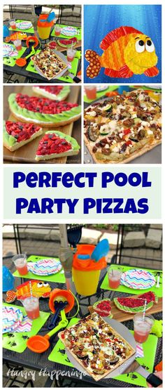 Make your pool party even more fun by creating festive pizza appetizers and desserts and allowing your guests to customize their own grilled pizzas.