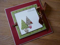 Jenny's Papierwelt: Weihnachtliche Karte mit Platz für Foto's