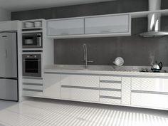 cozinha branca laca - Pesquisa Google