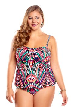 a00bb13a09 Always For Me Totem Plus Size Tankini