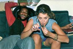 Brooke Shields smoking some reefer with HR from Bad Brains.