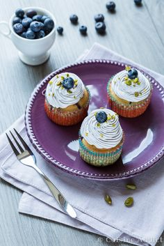 Cupcake Myrtille Coco / Blueberry & Coconut Cupcakes
