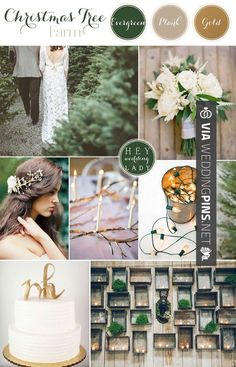 Wedding Colour Schemes 2017 – love the white and green with hints of gold!